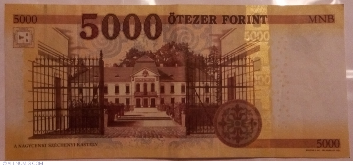Hungary 5000 5,000 2016 P-New Unc Forint