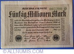 50 Millionen (50 000 000) Mark 1923 (1. IX.) - 2