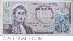 10 Pesos Oro 1973 (1 .I.)