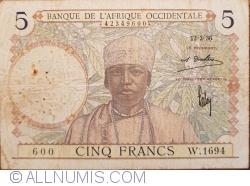 Image #1 of 5 Francs 1936 (12. III.)