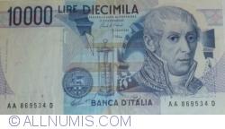 Image #1 of 10000 Lire 1984 (3. IX.) - Signatures Carlo Azeglio Ciampi/ Vittorio Stevani