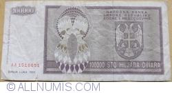 Imaginea #2 a 100 000 Dinari 1993