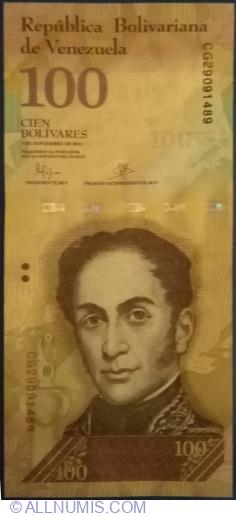 Imaginea #1 a 100 Bolivares 2015 (5 .XI.)