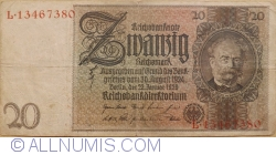 Image #1 of 20 Reichsmark 1929 (22. I.) - K