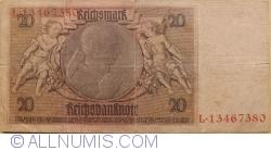 Image #2 of 20 Reichsmark 1929 (22. I.) - K