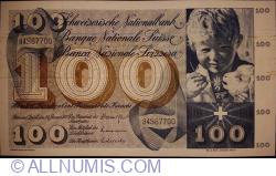 Image #1 of 100 Franken 1972(24. I.) - signatures Dr. Brenno Galli/ Dr. Edwin Stopper/ Rudolf Aebersold (42)