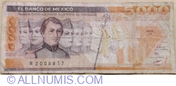 5000 Pesos 1987 (24. II.) - Serie JT