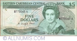 Image #1 of 5 Dollars ND (1986-1993)
