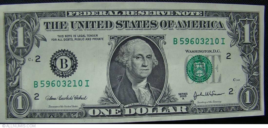 1 Dollar 2003a B 2003 Issue 1 Dollar United States