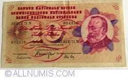 Image #1 of 10 Franken 1970 (5. I.) - signatures Rudolf Aebersold/ De. Brenno Galli/ Alexandre Hay