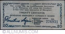 Image #1 of 20 Centavos 1943