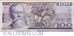 Image #1 of 100 Pesos 1982 (25. III.) - Serie UL