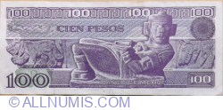 Image #2 of 100 Pesos 1982 (25. III.) - Serie UL