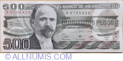Image #1 of 500 Pesos 1984 (7. VIII.) - Serie DS