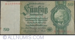 Image #1 of 50 Reichsmark 1933 (30. III.) - F (8 digit serial)