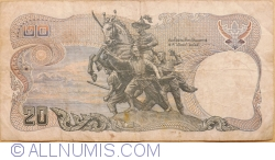 Image #2 of 20 Baht BE 2524 (1981) - signatures Bodee Junnanon / Rerngchai Marakanond (66)