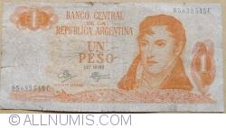 Imaginea #1 a 1 Peso ND (1970-1973) - semnături Rodolfo A. Mancini  / Carlos S. Brignone