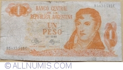 Image #1 of 1 Peso ND (1970-1973) - signatures Rodolfo A. Mancini  / Carlos S. Brignone
