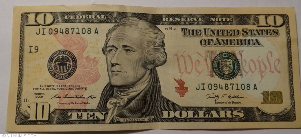 10 Dollars 2009 I9 2009 Issue 10 Dollars United