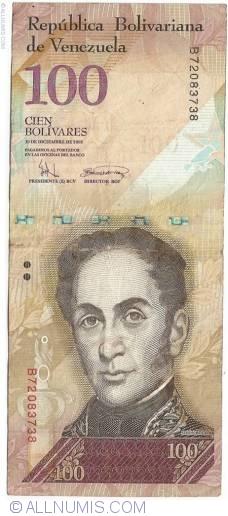 Imaginea #1 a 100 Bolivares 2008 (19. XII.)