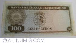 100 Escudos 1963 (25. IV.) - signatures Pedro de Mascarenhas Gaivão / Francisco José Vieira Machado
