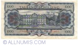 Image #2 of 1000 Schilling 1966 (1. VII.) (1970)