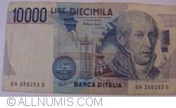 Image #1 of 10000 Lire 1984 (3. IX.) - Signature Antonio Fazio/Antonio Amici