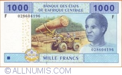 Image #1 of 1000 Francs 2002 (F - Equatorial Guinea)
