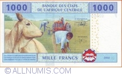 Image #2 of 1000 Francs 2002 (F - Equatorial Guinea)