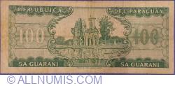 100 Guaranies L. 25. III. 1952 (1982) - semnături Alberto Cáceres Ferreira / César Romeo Acosta