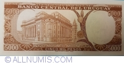 Image #2 of 5000 Pesos ND (1967)