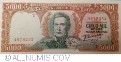 Image #1 of 5000 Pesos ND (1967)