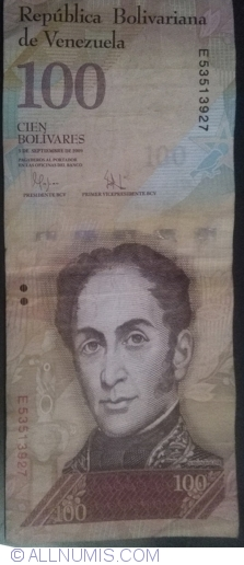 Imaginea #1 a 100 Bolivares 2009 (3. IX.)