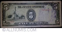 Imaginea #1 a 5 Pesos ND (1943) - Ștampilă: Japanese War Notes Claimants Association of the Philippines