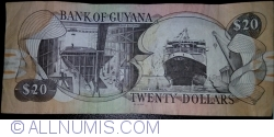 Image #2 of 20 Dollars ND (1996) - signatures Dr. Bobind Ganga / Ashni Singh