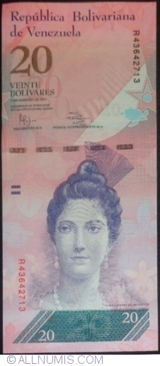 Imaginea #1 a 20 Bolivares 2011 (3. II.)