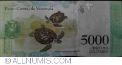Imaginea #2 a 5000 Bolivares 2016 (18. VIII.)