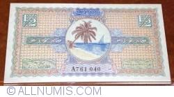 Imaginea #1 a 1/2 Rupee 1947 (AH 1367)