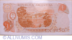 1 Peso ND (1970-1973) - signatures Alfredo D. Mastropierro / Egidio Iannella