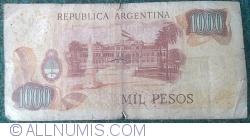 Image #2 of 1000 Pesos ND (1973-1976) - signatures Emilio Mondelli/ Ricardo A. Cairoli