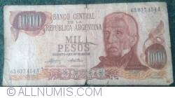Image #1 of 1000 Pesos ND (1973-1976) - signatures Emilio Mondelli/ Ricardo A. Cairoli