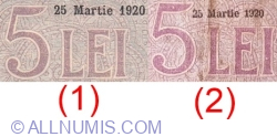 5 Lei 1920 (25. III.) - 1
