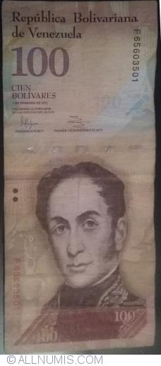 Imaginea #1 a 100 Bolivares 2011 (3. II.)