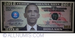 Image #1 of 2012 Dollars 2012 - Barak Obama
