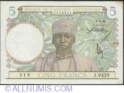 Image #1 of 5 Francs 1942 (6. V.)