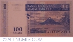 Image #2 of 100 Ariary = 500 Francs 2004