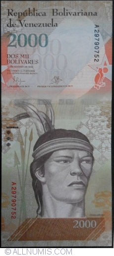 Image #1 of 2000 Bolivares 2016 (18. VIII.) - 1