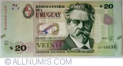 Image #1 of 20 Pesos Uruguayos 2015
