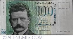 Image #1 of 100 Markkaa 1986 (1991) - signatures Holkeri / Heinonen