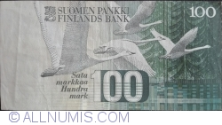 Image #2 of 100 Markkaa 1986 (1991) - signatures Holkeri / Heinonen